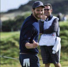 Jamies smile and bad golfer...