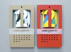 Cut Out Number Calendar — ACCESSORIES -- Better Living Through Design