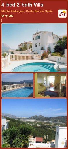 4-bed 2-bath Villa in Monte Pedreguer, Costa Blanca, Spain ►€179,000 #PropertyForSaleInSpain