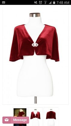 Red 50s cape