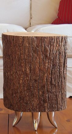 Basswood Tree Trunk Table