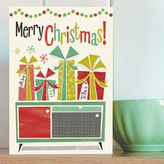Yes, it is that time of year and these Honey, It's Christmas! cards by Pennychoo are new on the shelves. 12 designs in total. Modern Christmas, Christmas Cards, Merry Christmas, Xmas, Retro Record Player, Record Player Stand, Vinyl Storage, Record Storage, Modern Mantel Clocks