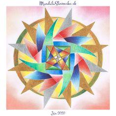 Mandala Jún 2020. Prešli sme zmenami, ktoré Vám umožnia žiť v radosti a naplnení. #mandala #mandalaslovakia #mandalaslovensko #handpaint #handmade #healingart #peace #compassion #jun #sacredgeometry Mandala, Logos, Art, Kunst, Mandalas, Logo, Coloring Pages Mandala, Art Education, Artworks