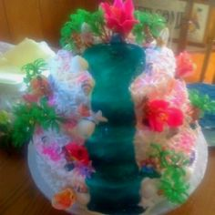 Hawiian themed birthday cake