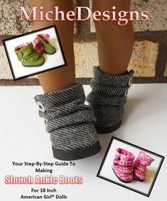 Pixie Faire Miche Designs Slouch Ankle Boots Doll Shoe Pattern
