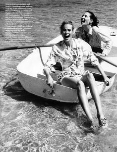 ☆ Meghan Douglas & Debbie Deitering | Photography by Pamela Hanson | For Vogue Magazine UK | July 1996 ☆ #meghandouglas #debbiedeitering #pamelahanson #vogue #1996