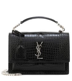 Saint Laurent - Sunset Monogram Medium shoulder bag - The iconic YSL logo  sits proudly on 5abdfa66fc8d6