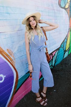 d276a8b87c3 dash of darling styles a madewell stripe jumpsuit with cognac leather  sandals