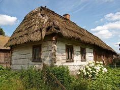 Horodyszcze na Polesiu; chałupa wiejska