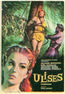 ULISES (1954). Una de las mejores adaptaciones para el cine. Se trata de una producción italiana con Kirk Douglas en el papel protagónico