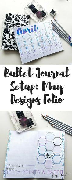 Bullet Journal April Setup: May Designs Folio Edition