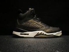12a54ed8c80a Genuine Air Jordan 5 Premium Heiress Black Light Bone-Metallic Field -  Mysecretshoes Nike Fashion