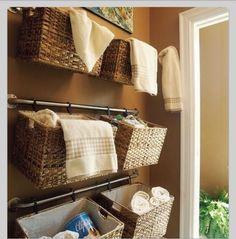 Slimme oplossing voor opbergruimte in de #badkamer