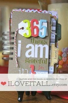 journal your gratitudes :: getting ready cute idea for Secret Santa gift.
