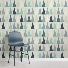 Mint Geometric Wallpaper Mural, custom made to suit your wall size by the UK's for wall murals. Custom design service and express delivery available. Mint Wallpaper, Normal Wallpaper, Standard Wallpaper, How To Hang Wallpaper, Watercolor Wallpaper, Photo Wallpaper, Geometric Triangle Wallpaper, Geometric Wallpaper Murals, Diy Wall Painting