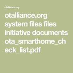 otalliance.org system files files initiative documents ota_smarthome_check_list.pdf