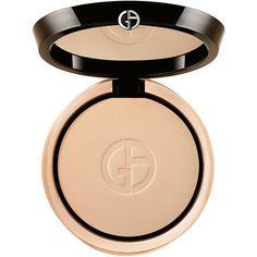 Giorgio Armani Luminous Silk Compact ($62) ❤ liked on Polyvore featuring beauty products, makeup, beauty, matte makeup, kohl makeup, black makeup, giorgio armani makeup and giorgio armani cosmetics