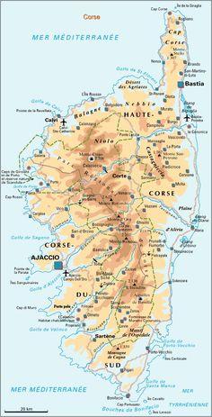 Mappa della Corsica - Cartina della Corsica