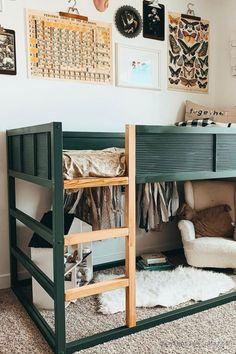 Kura Bed Hack, Ikea Kura Hack, Ikea Kura Bed, Ikea Beds, Toddler Boy Beds, Ikea Toddler Bed, Big Girl Bedrooms, E Room, Kids Room Design