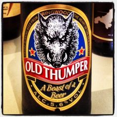 Ringwood Brewery Old Thumper - 5.6% ABV - indeed a beast of a beer - an all time favourite of mine