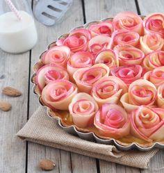 Tarte bouquet de pommes façon Alain Passard, crédit photo Bonneterre