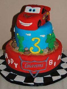 3rd birthday cake Cars