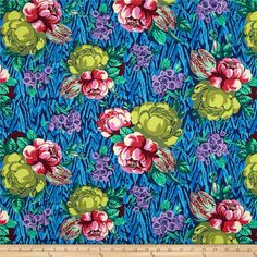 Amy Butler Hapi Tapestry Rose Sapphire from @fabricdotcom  Designed by Amy Butler for Rowan, this cotton print is perfect for quilting, apparel and home decor accents.  Colors include red, burgundy, shades of pink, shades of purple, shades of blue and shades of green.