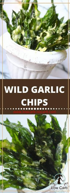 Wild Garlic Chips Easy and yummy chips you will enjoy Banting Recipes, Paleo Recipes, Low Carb Recipes, Snack Recipes, Paleo Dinner, Easy Dinner Recipes, Easy Meals, Easy Recipes, Keto Snacks