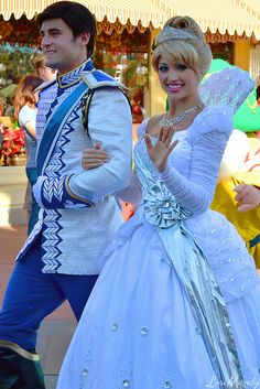 Disney's Cinderella & Prince Charming - Christmas Day Parade (seeing parade or dressing up in costumes) sure that is Ben