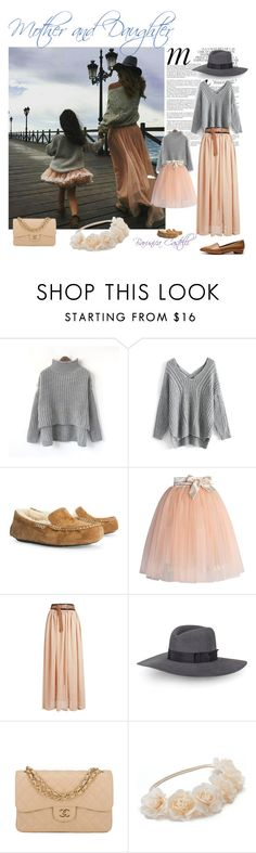 """Family Fashion"" by barunica-castelli ❤ liked on Polyvore featuring Whiteley, Chicwish, UGG Australia, Rebecca Minkoff, Chanel, Mudd and Mulberry"