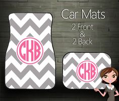 Custom Personalized & Monogrammed Car Floor Mats on Etsy, $39.99