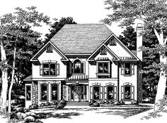 New American House Plan with 2575 Square Feet and 4 Bedrooms from Dream Home Source | House Plan Code DHSW05925