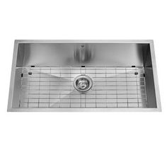 32-in x 19-in Single-Basin Stainless Steel Undermount 1-Hole Commercial/Residential Kitchen Sink