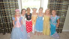 """""""Dress-up"""" 5 year old girl birthday party.  Purchased 15 used dresses off of eBay for $2 - $5 each sized 2 sizes too big.  Bought makeup and nail polish - and the girls dressed up, had their makeup, nails & hair done (by the moms), and then put on a fashion show for us.  Total Cost was under $100 for the entire party!"""