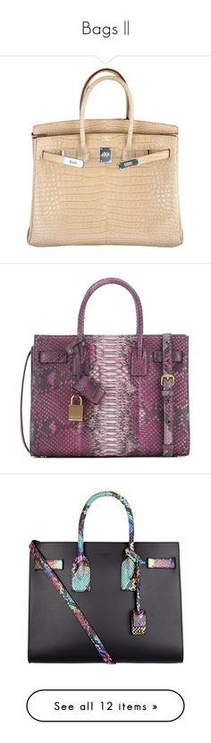 """Bags   "" by nextxxi ❤ liked on Polyvore featuring bags, handbags, hermes, purses, bolsas, hermes purse, hand bags, croc purse, hermès and purse bag"