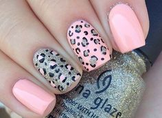 Print nails, cheetah nail designs, stiletto nails, gel nail designs, cute a Pink Cheetah Nails, Cheetah Nail Designs, Leopard Print Nails, Leopard Prints, Nails For Kids, Girls Nails, Best Acrylic Nails, Gel Nail Art, Trendy Nails