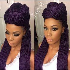 3 Confident Clever Tips: Older Women Hairstyles Purple asymmetrical hairstyles choppy.Women Hairstyles Medium Long asymmetrical hairstyles back view. Box Braids Updo, Box Braids Hairstyles, Twist Braids, Protective Hairstyles, Everyday Hairstyles, Black Women Hairstyles, Hairstyles With Bangs, Hairstyles 2018, Wedding Hairstyles
