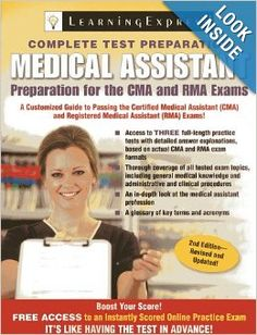 Pin by sara dryden on ma stuff pinterest medical assistant medical assistant exam preparation for the cma and rma exams llc learningexpress 9781576859247 fandeluxe Gallery