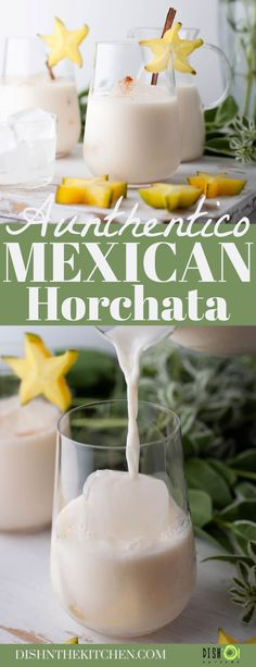 Drink Recipes Nonalcoholic, Easy Drink Recipes, Drinks Alcohol Recipes, Side Recipes, Smoothie Recipes, Mexican Food Recipes, Healthy Recipes, Homemade Horchata, Horchata Recipe