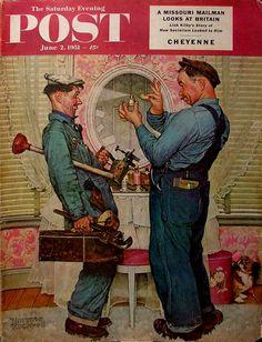 1951 - Plumbers - Norman Rockwell