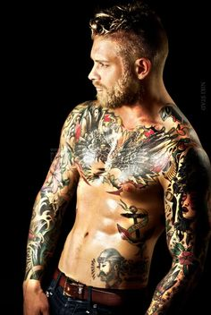 Tattoos and Beards on Josh Mario John