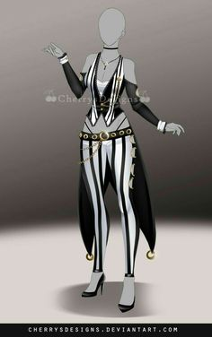 (closed) Outfit Adopt 705 by CherrysDesigns Villain Costumes, Character Costumes, Character Outfits, Fashion Design Drawings, Fashion Sketches, Cosplay Outfits, Anime Outfits, Pretty Outfits, Cool Outfits