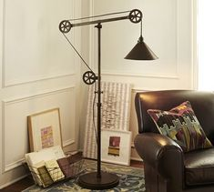 Shop warren pulley task table lamp from Pottery Barn. Our furniture, home decor and accessories collections feature warren pulley task table lamp in quality materials and classic styles. Industrial Floor Lamps, Vintage Industrial Decor, Industrial Style, Pottery Barn, Lampe Tube, Traditional Floor Lamps, Floor Standing Lamps, Standing Lights, Deco Originale