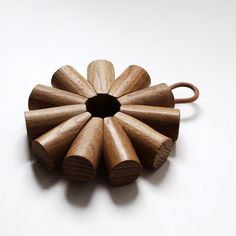 From our workshop - the final assembled Radial Oak Trivet with leather cord hanging loop. Leather Cord, Folk, Workshop, How To Make, Instagram, Design, Atelier, Popular, Work Shop Garage