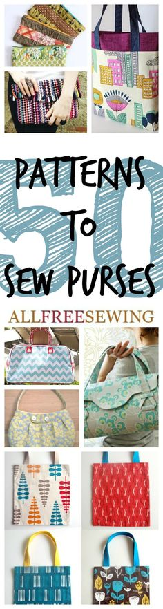 51 Patterns to Sew Purses + New Coin Purses | AllFreeSewing.com
