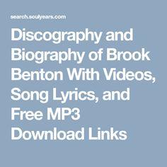 137 Best Brook Benton images in 2019   Motown, Music, Songs