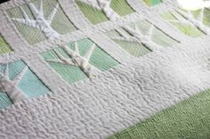 Closeup of Tiny Textured Trees by Carolyn Friedlander