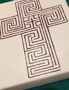 Limited quantity available. Hand-drawn cross-shaped finger labyrinth, perfect for personal prayer and/or meditation times. Makes an excellent gift for clergy appreciation, ordination, installation, etc. Size: 4 x 5 x 0.75