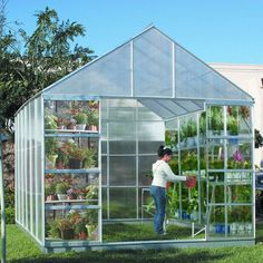 Greenhouses and Cold Frames 139939: No Tax 10 Ft X 12 Ft Greenhouse 4 Vents Walk-In Large Nursery Sliding Doors -> BUY IT NOW ONLY: $869.99 on eBay!