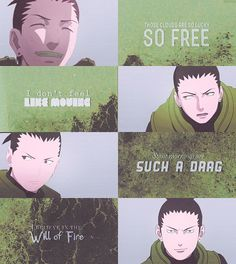 He is a chūnin-level shinobi of the Konohagakure's Nara clan and member of Team Asuma. Along with his team mates, he makes up the new generation of Ino-Shika-Chō, just their fathers were before them. Naruto Shippuden, Boruto, Shikatema, Naruhina, Shikadai, Naruto Jiraiya, Nara, Jojo's Bizarre Adventure, Shikamaru Wallpaper